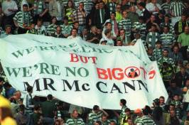 We're not bigots Mr McCann banner